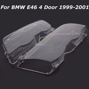 2x-Scheinwerfer-Linsen-Glas-Links-Rechts-Streuscheiben-fuer-BMW-3er-E46-1998-2001