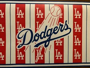 Mlb Los Angeles Dodgers Wallpaper Border Prepasted 9 X 7 Ebay