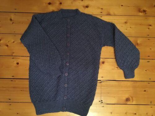 maglia mano Cardigan in a maniche a lunghe blu vFxqBHAwxC