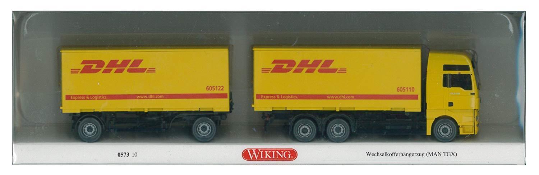Wiking 057310 - Wechselkofferhängerzug MAN TGX DHL NEU OVP  | Elegant und feierlich