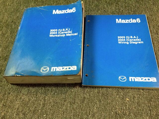 2003 2004 Mazda6 Service Repair Shop Workshop Manual Set