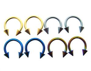 4-PAIRS-14G-3-8-034-INCH-CIRCULAR-BARBELLS-HORSESHOE-BLACKLINE-RINGS-BODY-JEWELRY
