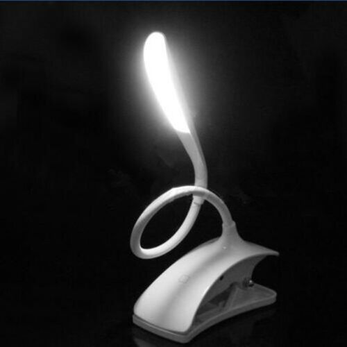 USB Rechargeable Reading Lamp Clip-On LED Desk Touch Sensor Dimmable Table Light