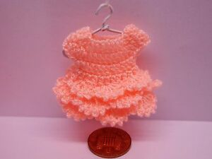 112 Scale Crochet Dress Hanger Dolls House Miniature Clothing