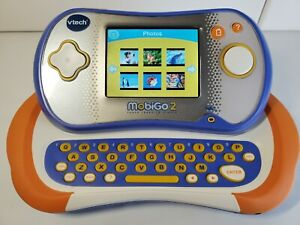 VTech MobiGo 2 Touch Learning System Blue Orange * No AC Adapter or stylus *
