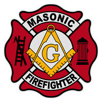 Masonic Firefighter 4 Maltese Cross Reflective Decal