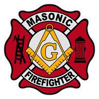 Masonic Firefighter 4 Maltese Cross Reflective Decal