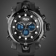 INFANTRY Mens Digital Quartz Wrist Watch Alarm Chronograph Sports Black Rubber