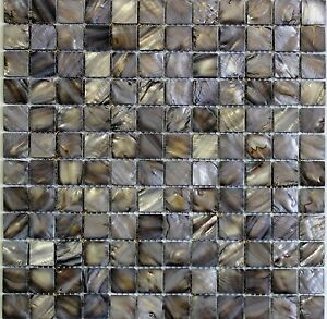 Black pearl mother of pearl shell mosaic tile backsplash tiles image is loading 034 black pearl 034 mother of pearl shell ppazfo