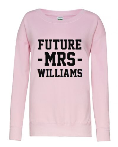 Wedding Hen Varsity Printed Jumper Personalised Future Mrs Ladies Sweatshirt