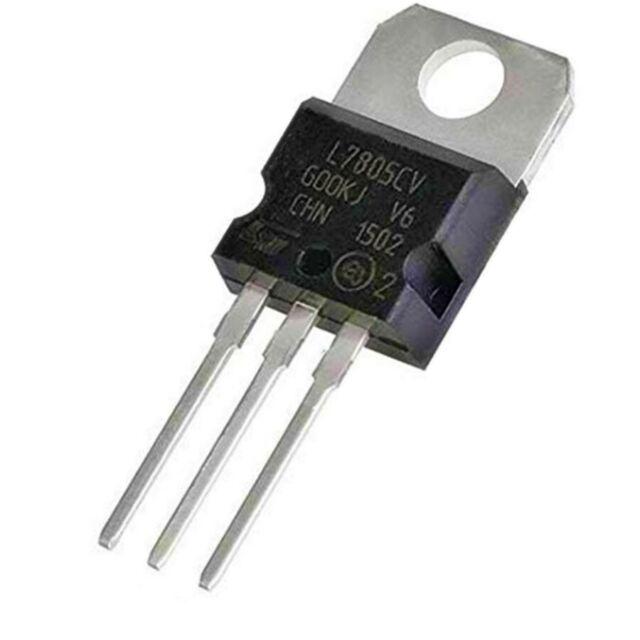 1PCS STMicroelectronics L7805CV Voltage Regulator IC REG LINEAR 5V 1.5A TO220AB