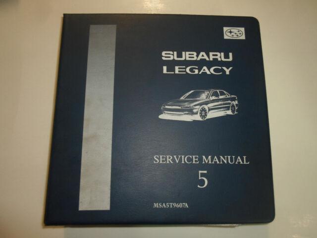 1996 Subaru Legacy Mech  U0026 Function Troubleshooting Wiring Service Manual Binder