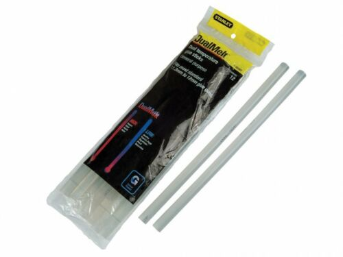 12 Stanley Dual Temp Glue Sticks 250mm