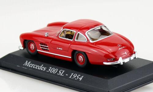 MERCEDES 300 sl rouge 1954 1:43 rba-vitrine Maquette de voiture//les-Cast