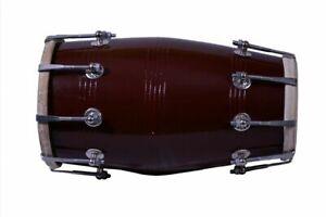 Wholesale Lot Of 6 Pcs Black Mango Wood Bolt-Tuned Dholak Instrument With Cover