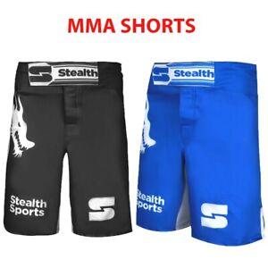 MMA SHORTS KICKBOXING TRAINING SPARRING SATIN GYM WORKOUT DRAWSTRING