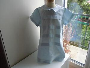 robe-tartine-et-chocolat-4-ans-51-de-lin-impeccable-bleu-pale-tres-classe