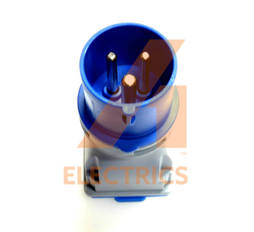 16 amp plug to 13 amp socket adaptor converter 3 pin weatherproof caravan 240V