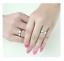 Coppia-Fedi-Fede-Fedine-Anello-Anelli-Fidanzamento-Nuziali-Oro-Acciaio-Zircone miniatura 7