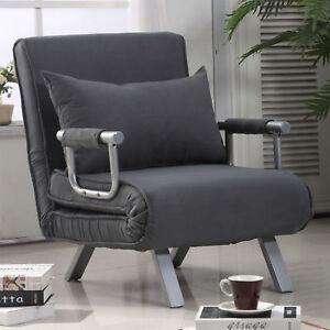 HOMCOM Convertible Sleeper Armchair Foldable Sofa Bed ...