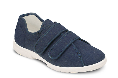new men's wide fit db shoes velcro harris casual canvas