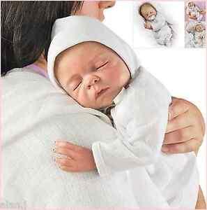 Ashton Drake Cherish Lifelike Newborn Baby Doll Free Dummy And