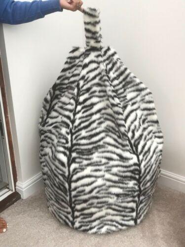 Bean Bag Cover seul Black /& White Tiger Imprimé Animal Fourrure Synthetique 6 ft³ environ 169.90 L T