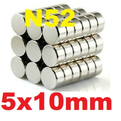 Magnets 10x5 mm Neodymium Disc strong round rare earth neo magnet 10mm dia x 5mm