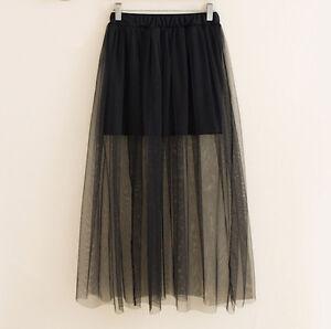 comprare popolare ee1a4 be5ab Dettagli su Mini Gonna Donna Tulle Trasparente in Tinta Unita Woman Tulle  Skirt 130036 P