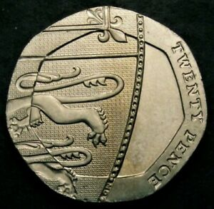 twenty pence coin with no date