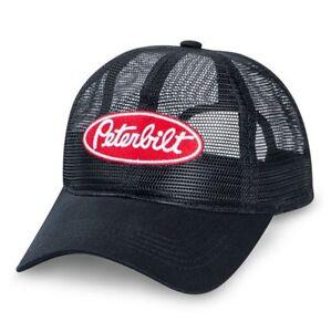 Image is loading Peterbilt-Trucks-Motors-All-Mesh-Black-Noir-Cap- 99c60be42ba