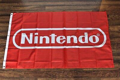 Nintendo Banner Flag Red Video Games Man Gamer Room Television Tv Pokemon New Ebay