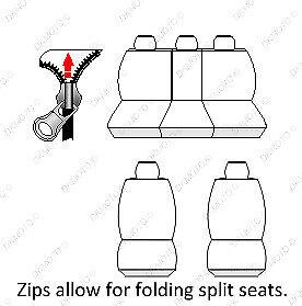 Car seat covers fit Kia Soul full set silver black sport style