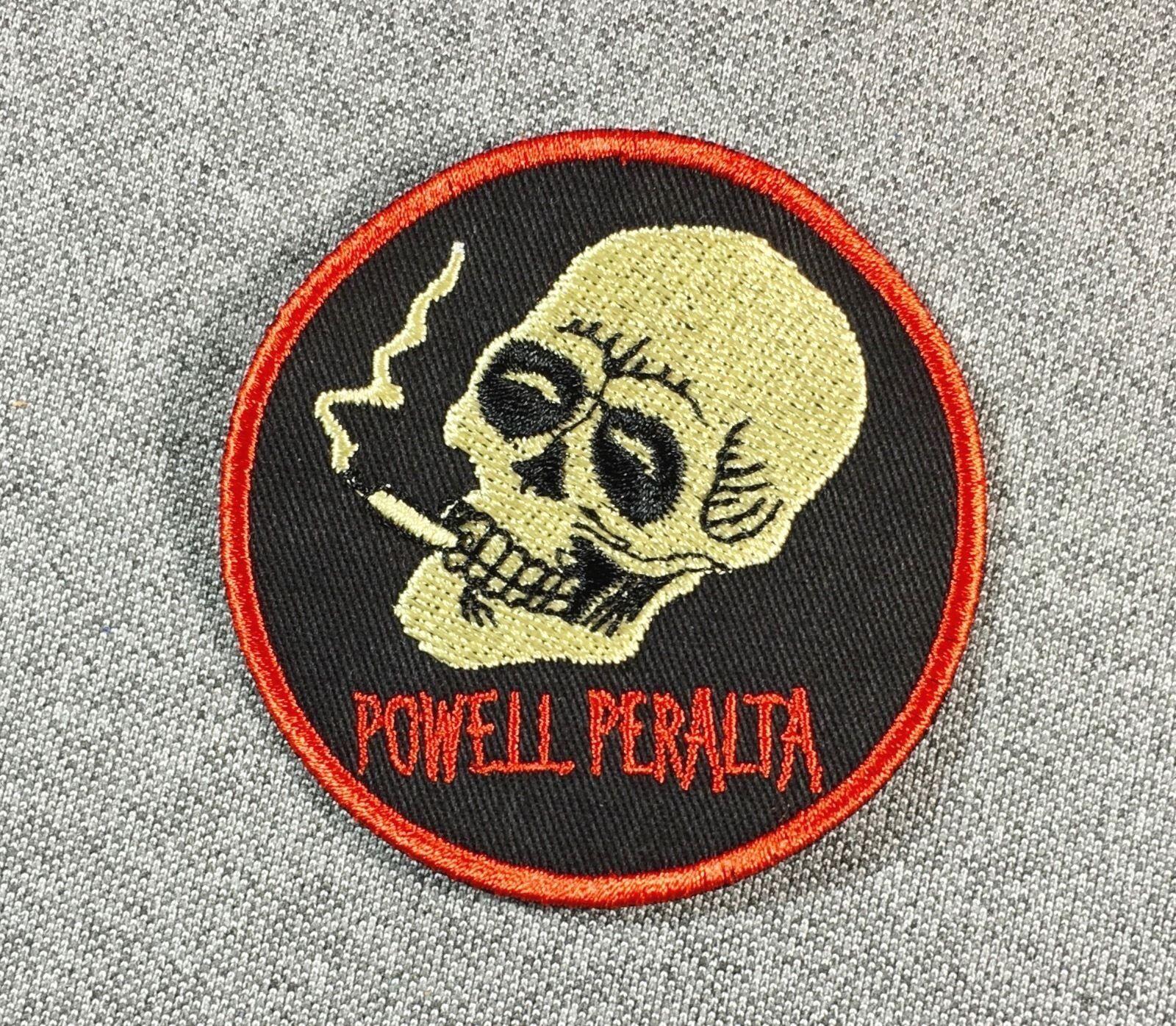 Powell Peralta Fumer 2.5in Crane Skateboard Patch 2.5in Fumer Patch à Coudre sur Si cb87eb