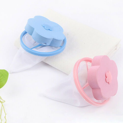 2Pcs Practical Floating Catcher Fur Lint Hair Remover Tool Cleaning Washer Mesh