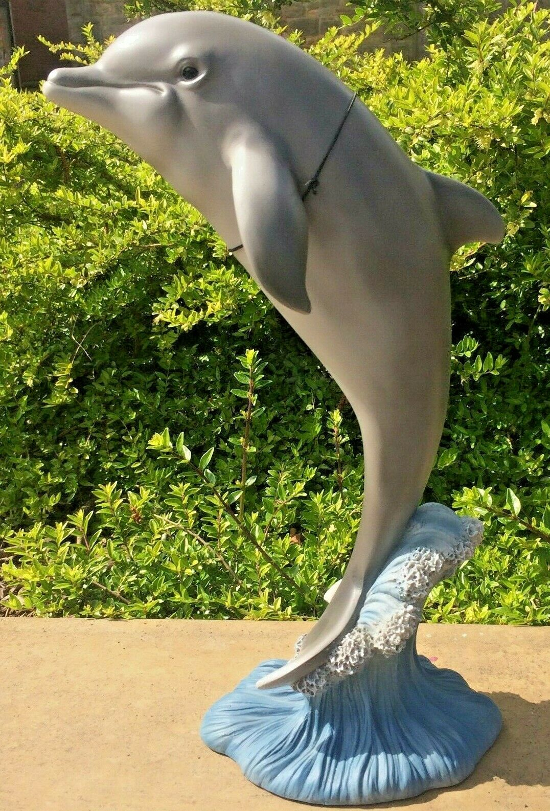 Delfín Pez gris Vivid Arts Decoración De Jardín Interior exterior