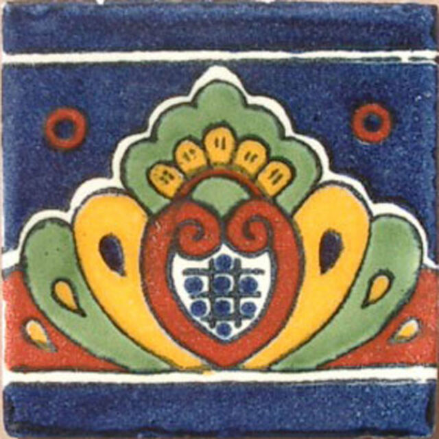 90 MEXICAN CERAMIC TILES WALL OR FLOOR USE CLAY TALAVERA MEXICO POTTERY #C064