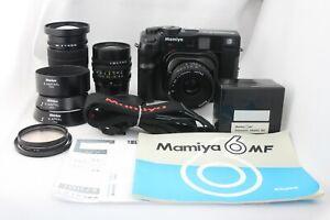 N Nuovo di zecca + + con adattatore RARO 135 Nuova fotocamera MAMIYA 6 MF + G 50,75,50mm dal Giappone