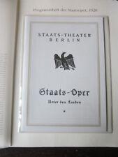 Berlin Archiv Edition 1336 E Staats Oper unter d  Linden Programmheft 22.12.1928