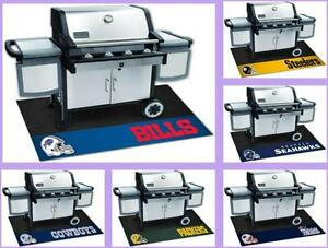 NFL-Licensed-Barbecue-BBQ-Grill-Mat-Vinyl-Outdoor-Floor-Mat-Rug-Choose-Team