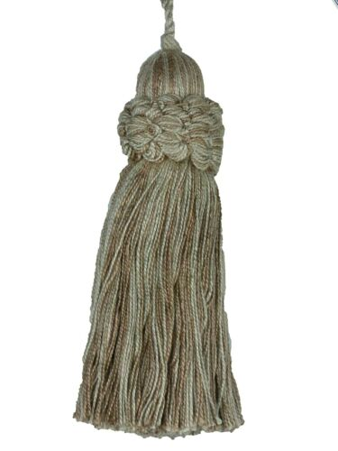 """Conso Oxford 9478 Color 11804 DAWN TAUPE Shades Decorative 4/"""" Key Tassel 3/"""" Loop"""