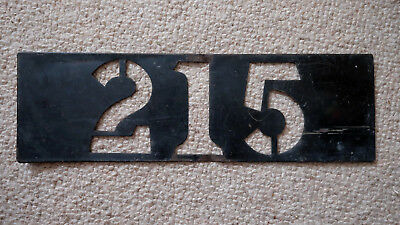LONDON TRANSPORT BUS ROUTE NUMBER 215 STENCIL PLATE from a KINGSTON TD |  eBay
