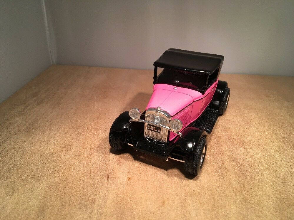 PINK FORD FORD FORD MODEL A STREET ROD ROADSTER - DIE CAST BANK by LIBERTY edb8e5