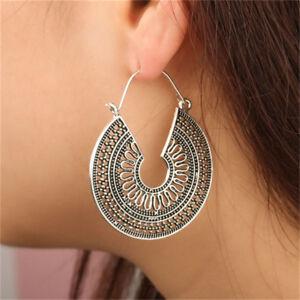 Boho-Rretro-Metal-Women-Vintage-Charm-Hoop-Dangle-Earrings-Hollow-Out-Ear-Hook