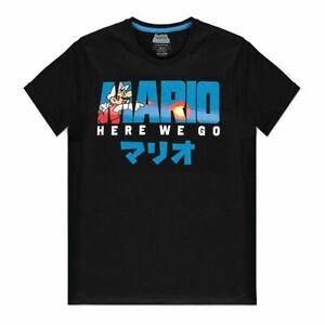 Nintendo Super Mario Bros Fire Mario T-Shirt Homme L Noir (TS314624NTN-L)