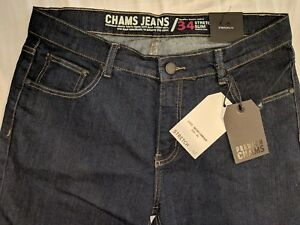 Bleu Slim Stretch fonc Taille Denim Jeans W34 L31 Yx1H1wU