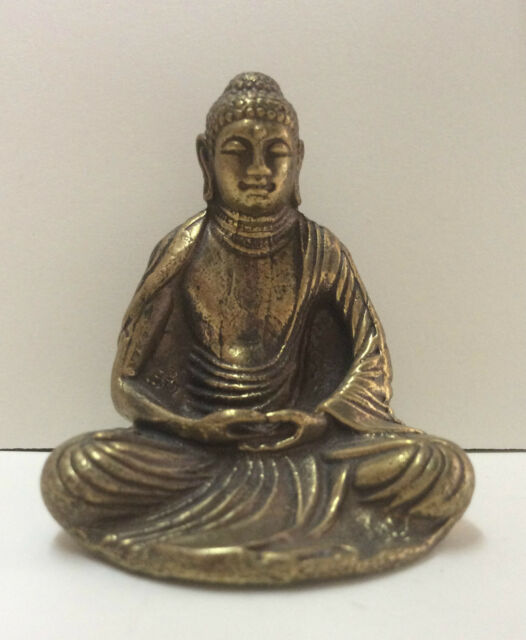 Statuette figurine en bronze - 1 amulette Bouddha origine Chine