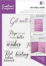 Crafter's Companion Mix & Match Clear STAMPS Get Well Soon 709650883192