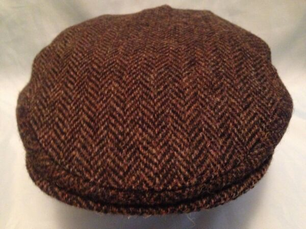 GENTS 100% WOOL HAND WOVEN HARRIS TWEED FLAT CAP   DRIVING HAT FROM SCOTLAND 33daab741833