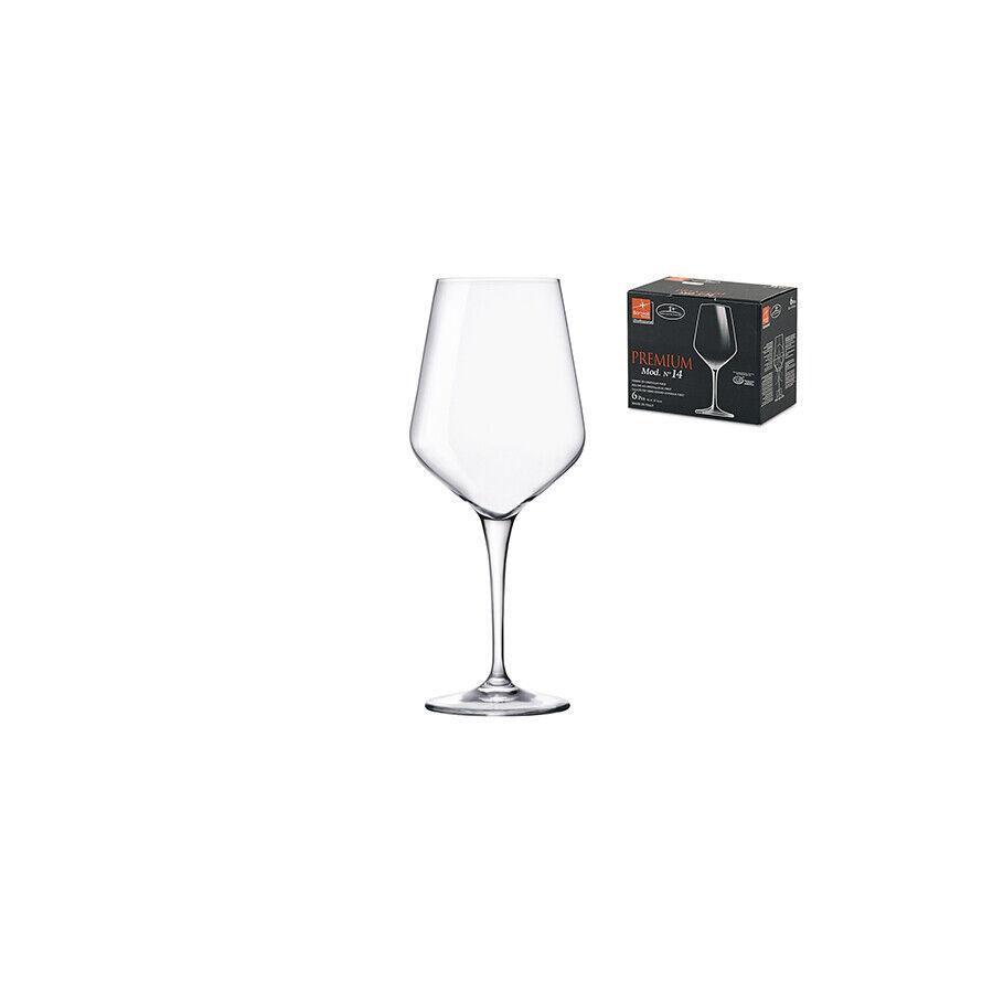 BORMIOLI ROCCO Set 4 X 6 Calici In Vetro Premium Rose Cl44 Arrougeo Tavola